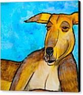 Lazy Roo Canvas Print by Debi Starr