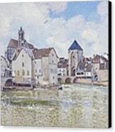Le Pont De Moret Canvas Print by Alfred Sisley