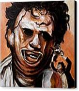 Leatherface Unleashed Canvas Print by Al  Molina