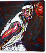 Lebron James 2 Canvas Print by Maria Arango