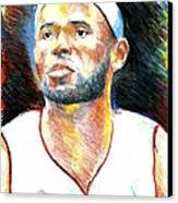 Lebron James  Canvas Print by Jon Baldwin  Art