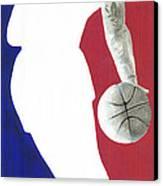 Lebron Nba Logo Canvas Print by Tamir Barkan
