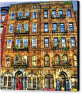 Led Zeppelin Physical Graffiti Building In Color Canvas Print by Randy Aveille