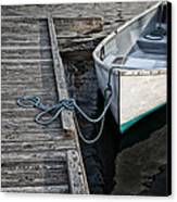 Left At The Dock Canvas Print by Karol Livote