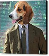 Legal Beagle Canvas Print by Nikki Smith