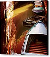 Legata Nel Canale Canvas Print by Micki Findlay