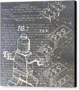 Lego Patent Canvas Print by Nick Pappas