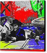 Leif Erickson Cameron Mitchell  Mark Slade Number 2 The High Chaparral Set Old Tucson Az 1969-2008 Canvas Print by David Lee Guss