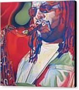 Leroi Moore Colorful Full Band Series Canvas Print by Joshua Morton