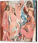 Les Demoiselles D' Avignon Canvas Print by Reproduction