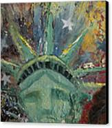 Liberty Breaking Out Canvas Print by Trish Bilich