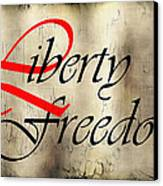 Liberty Freedom Canvas Print by Daniel Hagerman