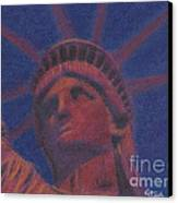 Liberty In Red Canvas Print by Stephen Cheek II