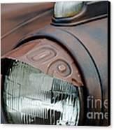 License Tag Eyebrow Headlight Cover  Canvas Print by Wilma  Birdwell