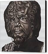 lieutenant commander Worf Star Trek TNG Canvas Print by Giulia Riva
