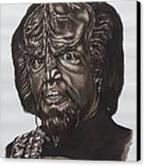 lieutenant commander Worf Star Trek TNG Canvas Print by Giulia Riva