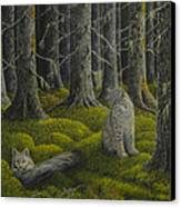 Life In The Woodland Canvas Print by Veikko Suikkanen