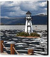 Lighthouse In Lake Dillon Canvas Print by Juli Scalzi
