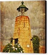 Lighthouse - La Coruna Canvas Print by Mary Machare
