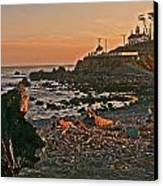 Lighthouse Sunset  Canvas Print by Gracia  Molloy