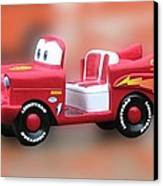 Lightning Mcqueen Canvas Print by Thomas Woolworth