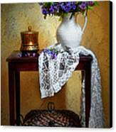 Lilacs And Lace Canvas Print by Diana Angstadt