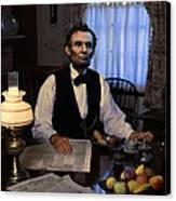 Lincoln At Breakfast 2 Canvas Print by Ray Downing