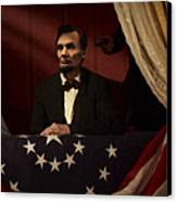 Lincoln At Fords Theater 2 Canvas Print by Ray Downing