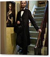 Lincoln Descending Stairs 2 Canvas Print by Ray Downing