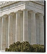 Lincoln Memorial Pillars Canvas Print by Susan Candelario