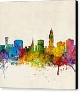 Lincoln Nebraska Skyline Canvas Print by Michael Tompsett
