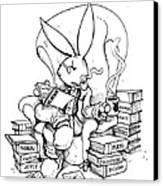 Literary Playboy Canvas Print by John Ashton Golden