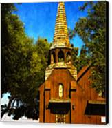 Little Church Of The West Canvas Print by Julie Palencia