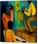 Little Jazz Trio I Canvas Print by Larry Martin