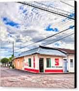 Little Pulperia On The Corner - Costa Rica Canvas Print by Mark E Tisdale