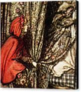 Little Red Riding Hood Canvas Print by Arthur Rackham