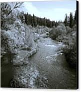 Little Spokane River Beauty Canvas Print by Daniel Hagerman