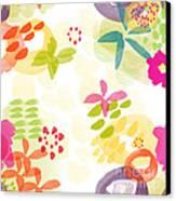 Little Watercolor Garden Canvas Print by Linda Woods