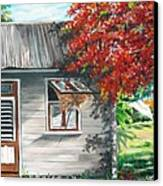 Little West Indian House 1 Canvas Print by Karin  Dawn Kelshall- Best