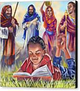 Living Bible Canvas Print by Tamer and Cindy Elsharouni
