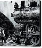 Locomotive Canvas Print by Edward Hopper