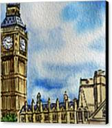London England Big Ben Canvas Print by Irina Sztukowski