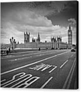 London - Houses Of Parliament  Canvas Print by Melanie Viola