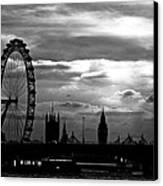 London Silhouette Canvas Print by Jorge Maia