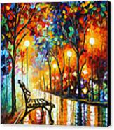 Loneliness Of Autumn Canvas Print by Leonid Afremov