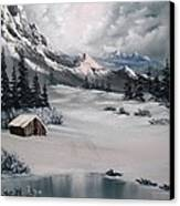 Lonely Cabin Canvas Print by John Koehler
