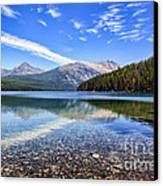 Long Knife Peak At Kintla Lake Canvas Print by Scotts Scapes