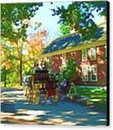 Longfellows Wayside Inn Canvas Print by Barbara McDevitt