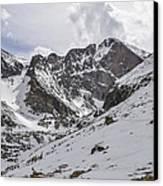 Longs Peak Winter Canvas Print by Aaron Spong