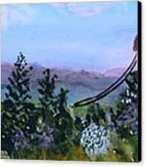 Looking Out From Top Of Jay Peak  Canvas Print by Donna Walsh